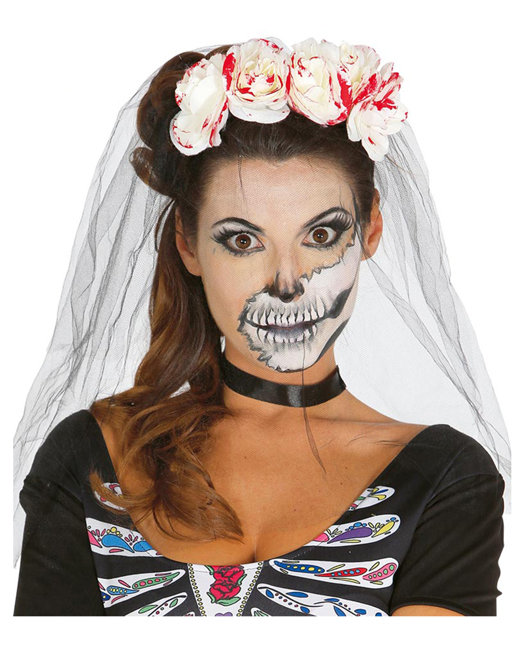 sugar skull schminkanleitung halloween makeup horror shop blog. Black Bedroom Furniture Sets. Home Design Ideas