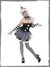 Circus Sinister Pierrot Damenkostüm