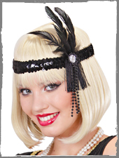 Flapper Stirnband mit Federn