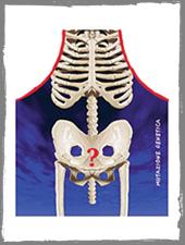 Skelett Kochschürze