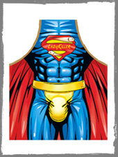 Superheld Kochschürze