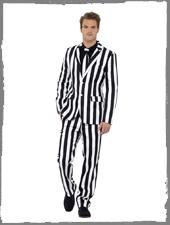 Schwarz Weiß gestreifter Anzug