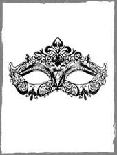 Filigrane venezianische Maske aus Metall