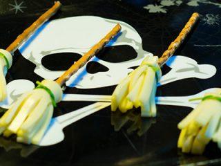Halloween Käse Besen Rezept