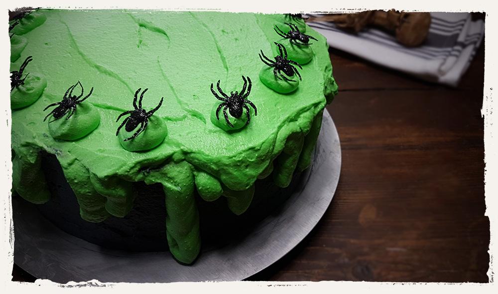 Spinnen Schleimkuchen Halloween Rezept Schritt 06