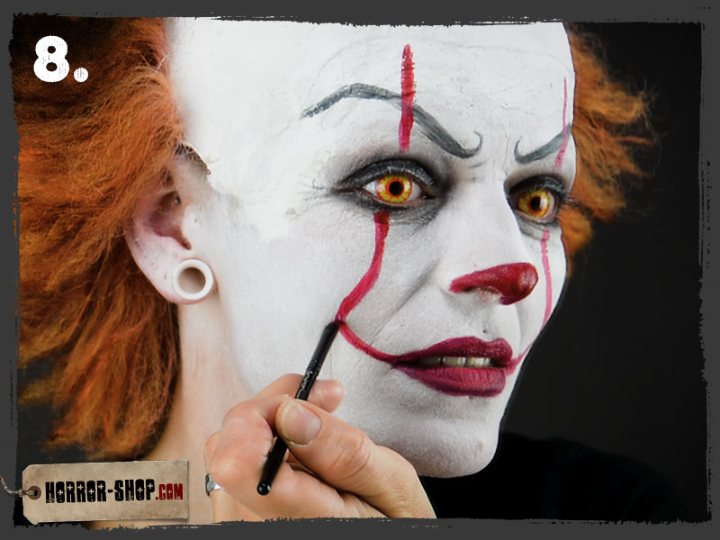 Schminken Halloween.Pennywise Schminkanleitung Video Tutorial Horror Shop