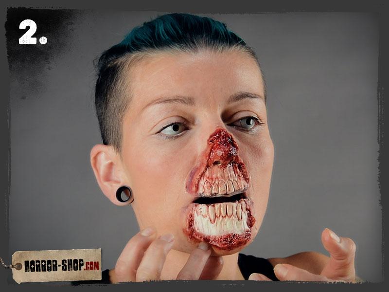 Zombie Schminkanleitung - Schritt 02