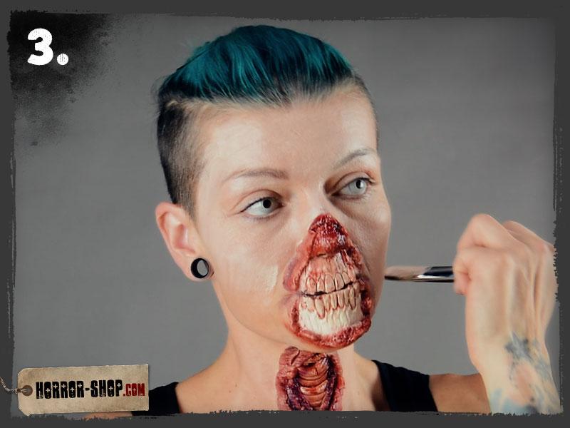 Zombie Schminkanleitung - Schritt 03