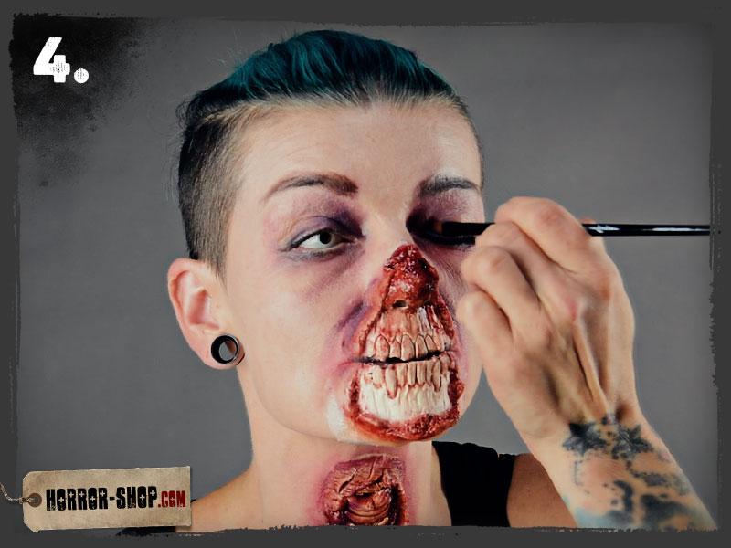 Zombie Schminkanleitung - Schritt 04