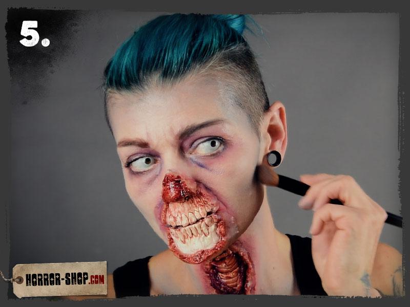 Zombie Schminkanleitung - Schritt 05