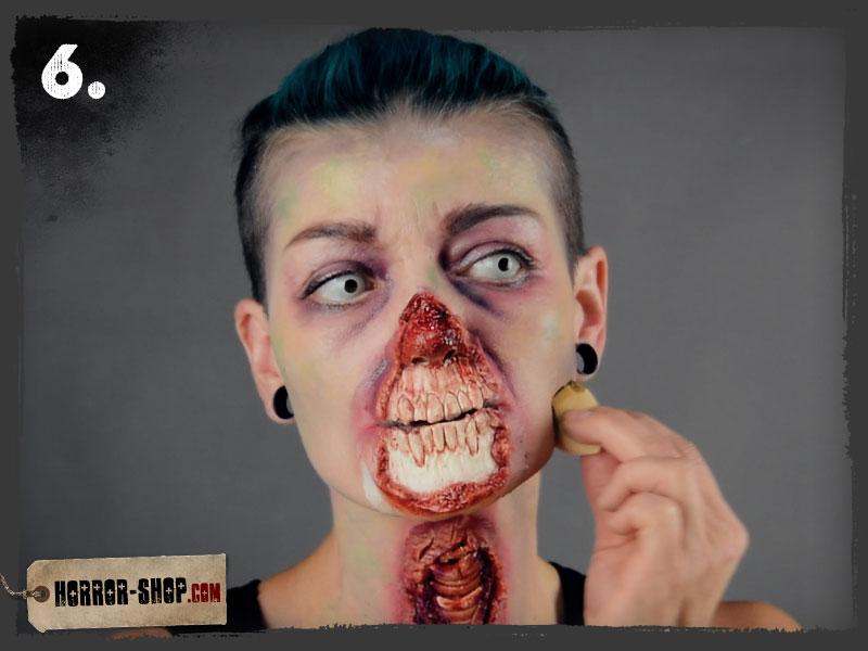 Zombie Schminkanleitung - Schritt 06