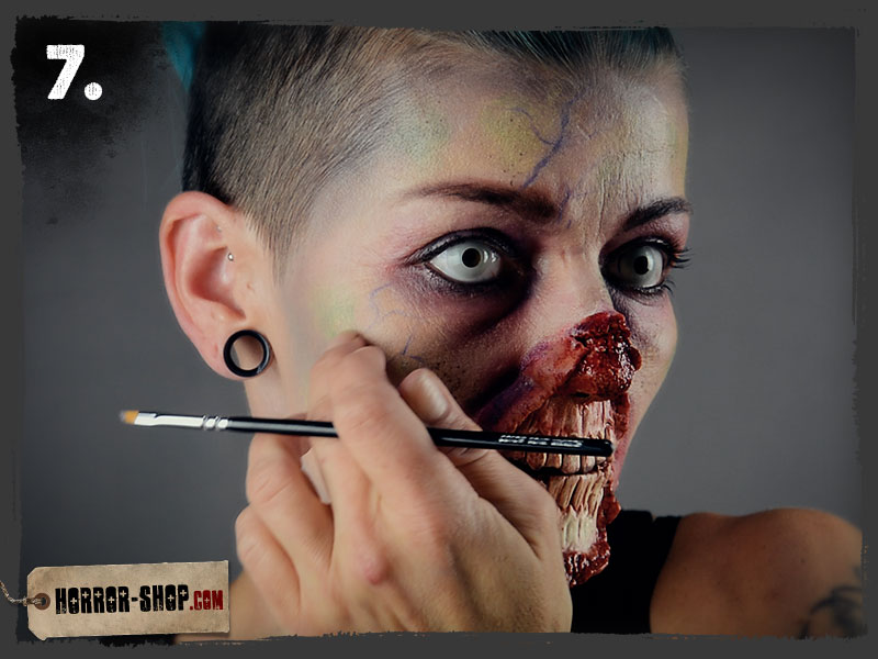 Zombie Schminkanleitung - Schritt 07