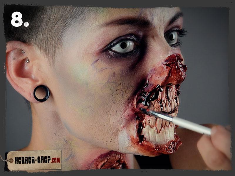 Zombie Schminkanleitung - Schritt 08