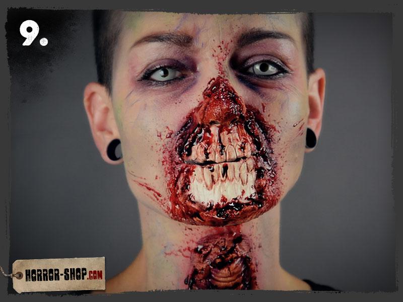 Zombie Schminkanleitung - Schritt 09