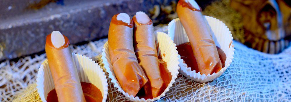 Blutige Wiener Finger für Halloween