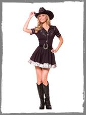 Cowgirl Damenkostüm vom Horror-Shop.com