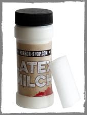 Latexmilch mit Schminkschwämmchen