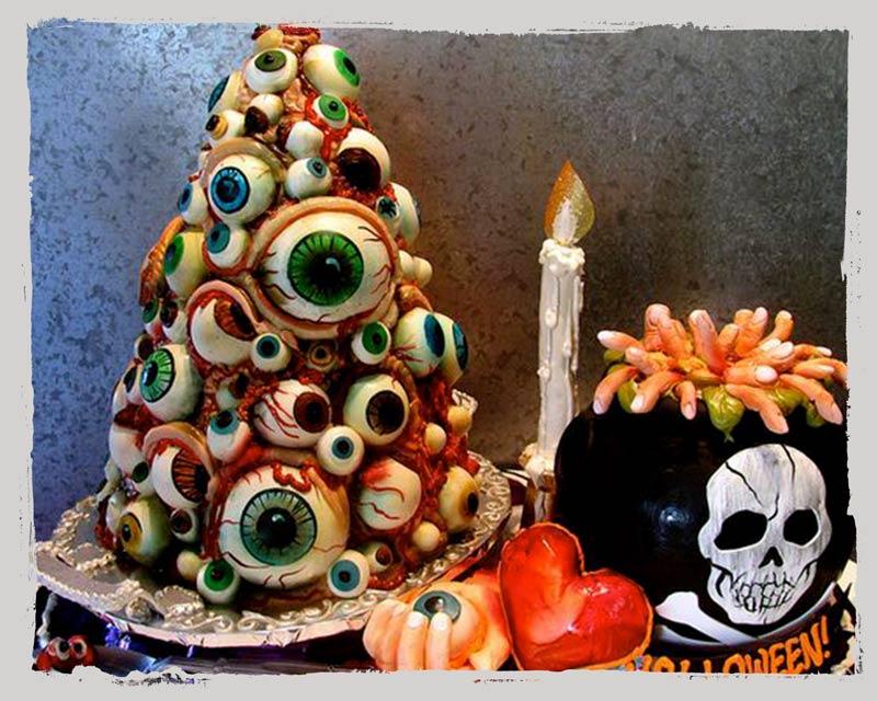 Halloween Kuchen mit Augen