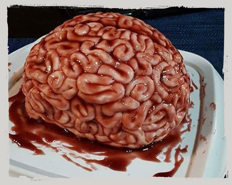 Gruseliger Gehirn Kuchen