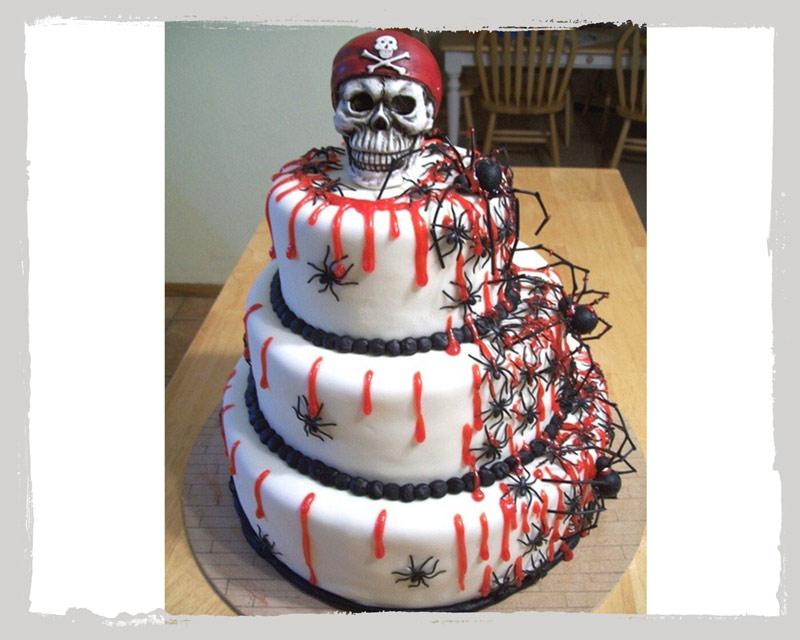 Halloween Spinnenkuchen