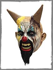 Eiscreme Horror Clown Maske