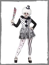 Horror Clown Damenkostüm