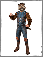 Rocket Raccon Kostüm mit Maske