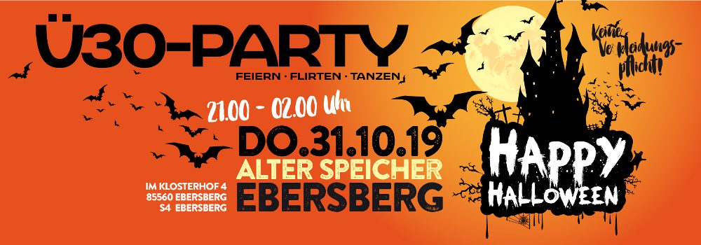 Ü30 Halloweenparty im Alten Speicher in Ebersberg 2019