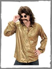 Goldenes Glitter Hemd