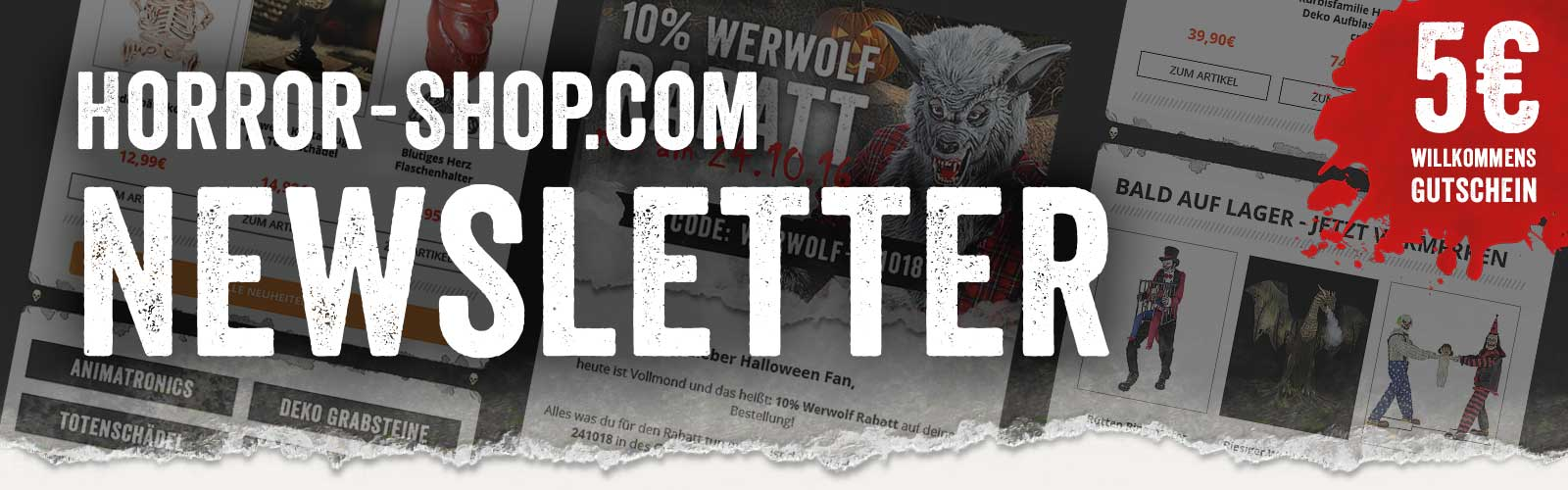Horror-Shop.com Newsletter