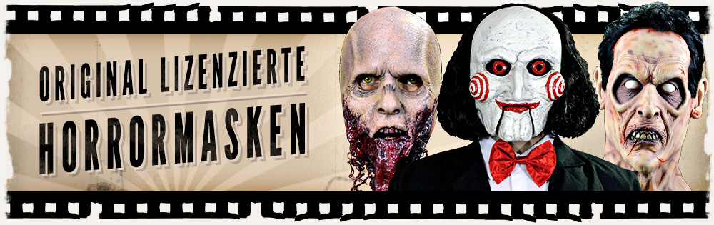 Original LIzenzierte Horrormasken & Make Up