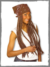 Brown Bandana with Rastas