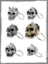 Skull and Spider Keychains