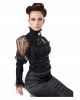 Gothic blouse with lace XXL