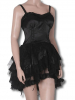 Black Satin Mini Dress XS / 34