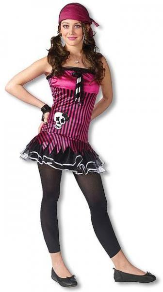 rocking skull teen costume pirate girl costume child. Black Bedroom Furniture Sets. Home Design Ideas