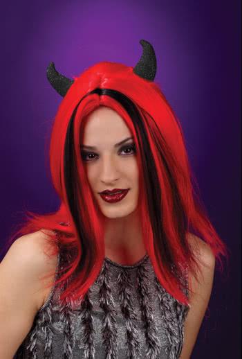 Devil Wig with Black Horns