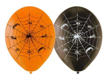 Spinnenweben Luftballons