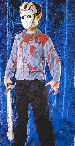 Child Jason Mask and Shirt