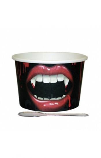 12 Dessert Becher Vampir-Biss mit Löffel