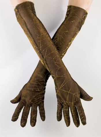 Cobwebs gloves gold