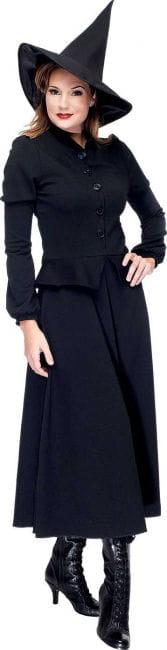 Elegantes Hexen Kostüm schwarz Gr  38 M