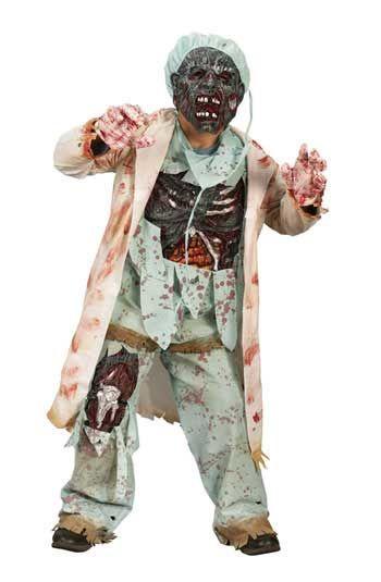 Zombie Doctor Deluxe Child Costume. L