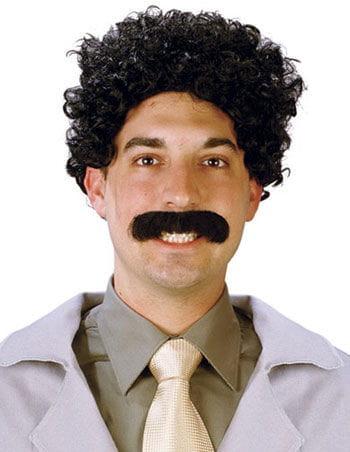 Borage wig and mustache