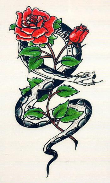 Tattoo Schlange und Rose