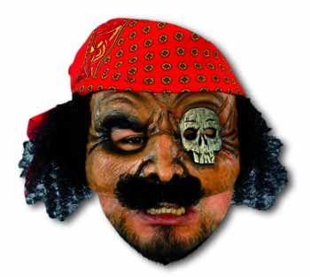 Blackjack Pirate Half Mask