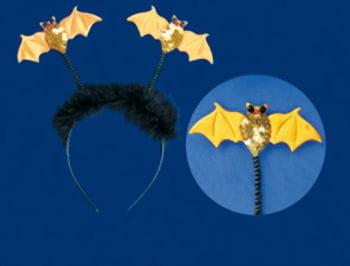 Headband orange bat