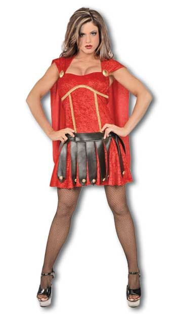 Sexy Gladiator Kostüm rot Gr. L / 40