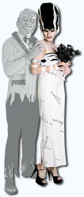 Frankensteins Braut Kostüm Gr. S