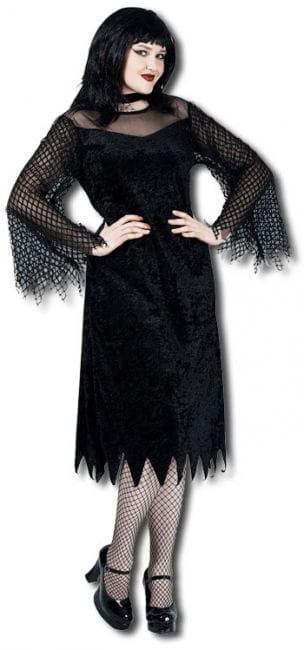 Vamp Robe mit Netzärmeln Kostüm XL